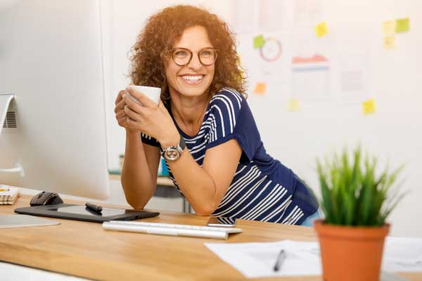 A woman at the office